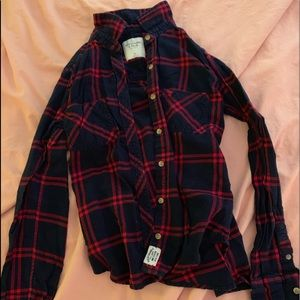 Blue and red flannel from abercrombie